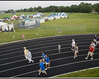 7.10.2009 Poland High School's Stadium during the Relay for Life on Friday evening. Geoffrey Hauschild