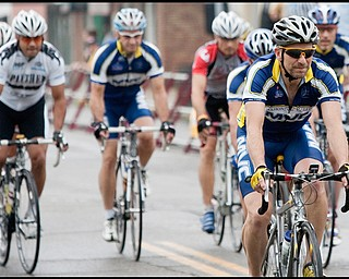 7.11.2009Robert Vogt, a resident of Salem and team member of the Mahoning Valley Cyclists, takes off on the Masters class race along S Main St in Columbiana during the Tour of the Valley on Saturday afternoon.Geoffrey Hauschild