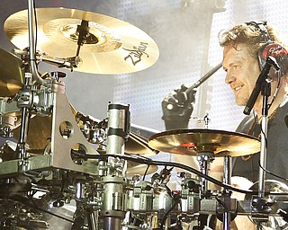 Rick Allen of Def Leppard performs live at Post Gazette Pavilion in Burgettstown, PA. The venue included Cheap Trick and Poison, Friday, July 10, 2009  Lisa-Ann Ishihara