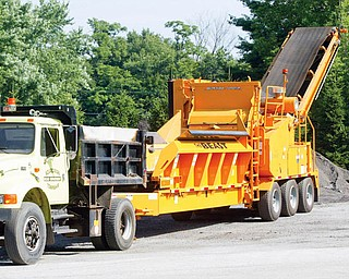 Boardman's recycling equipment known as The Beast.