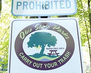 Carry Out Your Trash signs @ BeaverCreek State PArk. wd lewis