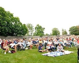 Thousands of people fill the 2.5 acres of space at the Judge Morley Pavilion Sunday, July 19, 2009 to enjoy the free show by Big Bad Voodoo Daddy.