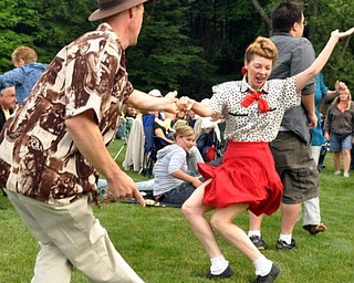 Duane and Lisa Pitzer of Newton Falls dance to Big Bad Voodoo Daddy.