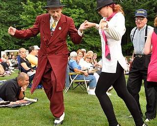 Dancing to Big Bad Voodoo Daddy, Sunday, July 19, 2009 at the Judge Morley Pavilion in the Mill Creek Metro Parks. The performance was part of the 7UP Summerfest Series at the mill Creek MetroParks.