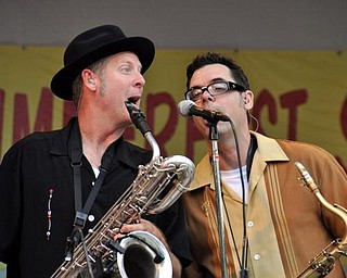 Big Bad Voodoo Daddy perform at the Judge Morley Pavilion in the Mill Creek MetroParks July 19, 2009.