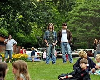 Matt Palka, left, and Chris Rutushin, right at Big Bad Voodoo Daddy.