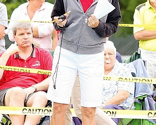 Head coach Andrea Linelli during the swim meet at Canfield Swim and Tennis Club.