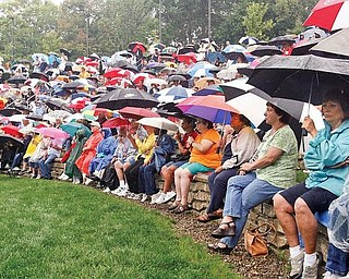 About 1,000 Delphi Packard Electric retirees attend a rally at the Warren Amphitheatre, joining the fight to save their pensions and health care.  Current and former union officials who led the rally Wednesday told them hope remains that they can retain their benefits.