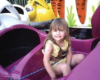 Summer Swiskoski, daughter of Jimmy and Shannon Swiskoski of Cornersburg, at the St. Christine's Festival.