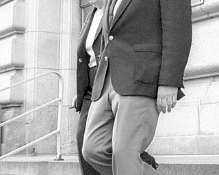 Jim Traficant leaves federal court April 11, 2002 after being found guilty.