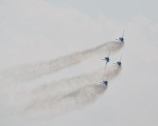 The Thunderbirds at the Youngstown Air Show, Sunday, August 9, 2009.