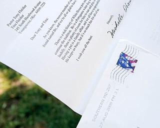 WRITTEN PROOF: Here's the letter from Michelle Obama that arrived at the home of Tina and Tony Fleisher of Youngstown.