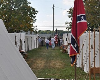Civil War Encampment at the Canfield Fair.