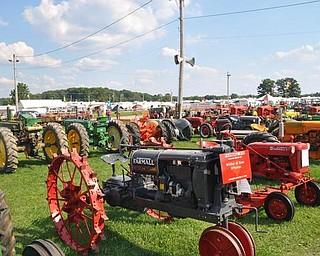 Farm equipment on display