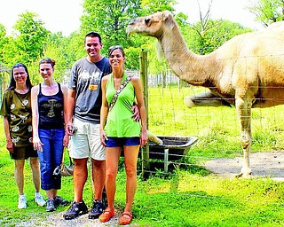 l-r Marilyn Stanton (Vienna), Amy Haddad (Vienna), Kris and wife Megan McKenzie (Cuyahoga) visiting the Ark for the first time.