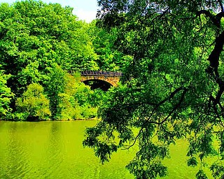 The Parapet Bridge was built in 1913 and is considered to be one of the finest of its kind in the United States