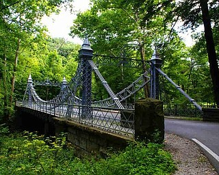 The green flats and wooded area around the bridge is referred to as 'The Indian Circle' or the 'Cricket Field' after the British game
