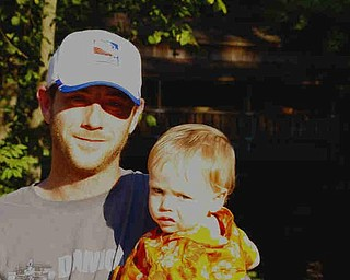 Joe Gaal and son Eric catching the last rays at the Lanterman Mill
