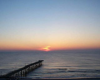 Dennis Moore of New Castle, Pa., sent this picture of the sunrise at Virginia Beach.