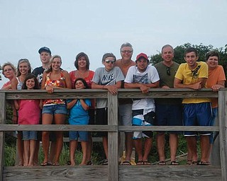 Members of the Leo Wagner, Frank Kowalczyk and Sam Jackson Jr. families vactioned together in August on the Outerbanks of North Carolina.
