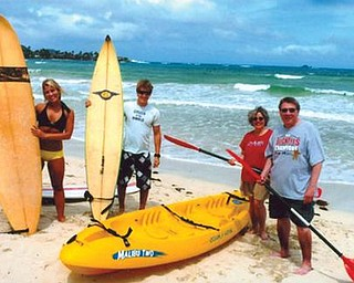 On vacation in Hawaii are, from left, Angie Ferenchak of Westlake; Kenny Ferenchak of Waianae, Hawaii; Cathy Ferenchak of Canfield; and Steve Ferenchak of Canfield.