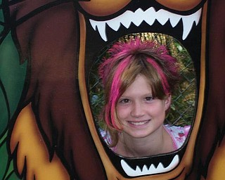 Sierra Campbell, 11, of Youngstown is pictured here at the zoo.