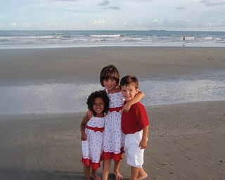 Lily Scott of Girard and Caroline and Joey Criscione of Girard are on their beach vacation in Ocean Isle, S.C.