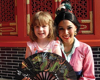 McKenna Sweeney, 4 1/2, of Boardman enjoyed a day Disney World in Florida that included a visit with Mulan!