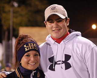 Cousins Lena Notareschi and Johnny Perry at the Lowellville / Sebring game.