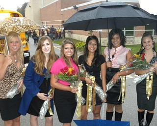 Liberty's Homecoming Court! L-R: Lauren Wine, Tammy Chevelan, Allison 