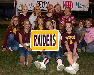 """Little Raiders cheerleaders and friends are ready to cheer on the