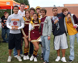 """South Range fans hang out at the Blitz tailgate party."""