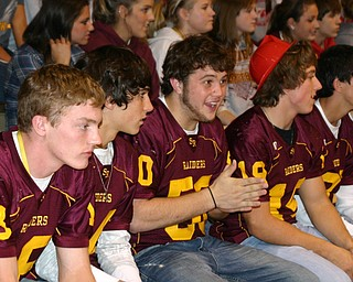 """South Range Senior football players, Kyle Seaver, Vince Miller, Tim