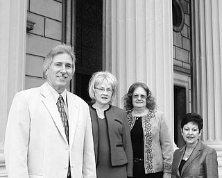 FUNDRAISER: Taking steps to ensure the success of a fashion show to be sponsored by Stambaugh Pillars are, from left, Phil Cannatti, executive director; Barbara Banks and Leilani Drake, cochairs; and Judy Conti, fashion coordinator. Proceeds from the Nov. 4 gala will support restoration projects at Stambaugh Auditorium.