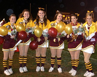 """South Range Senior Cheerleaders are honored at Friday evening's