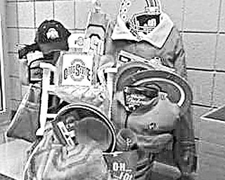 """Special to The Vindicator POWER PACK: Ohio State University alumni, boosters or fans will have an opportunity to win a basket filled with these OSU themed items during the """"Once Upon a Christmas Craft Show"""" Dec. 5 at Ursuline Preschool and Kindergarten, 4200 Shields Road. This is only one of many gift-filled baskets to be raffled at the event."""