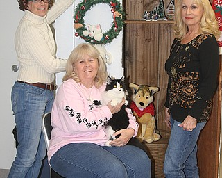 <p>Special to The Vindicator/Nick Mays</p> <p>READY TO GO: From left, Susie Cope, Lee Kumick and Ruth Nabb are preparing for the annual Angels for Animals Antiques and Collectibles Sale on Friday, Saturday and Sunday.</p>