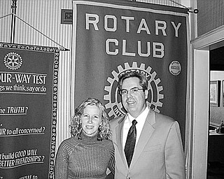Special to The Vindicator endangered: At a recent meeting of the Youngstown Rotary Club, the program focused on the Ohio Social Law, which was designed to protect young people from underage drinking. The speaker was Sam Landry, above with his wife. He provided information about youth alcoholism in Northeast Ohio. According to the speaker, more than 40 percent of underage drinkers in the nation were provided alcohol by parents or other adults. He stressed the need for amending the Ohio Social Law, and he asked club members to contact state politicians and request that they pass the new bill of Ohio Code Section 4301.69.