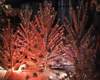 The solarium in the Arms Family Museum is decorated with 1950s-era tinsel trees.