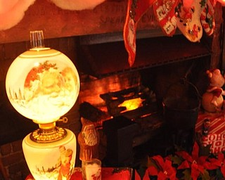 The sitting room at the Arms Family Museum. Decorated for Christmas in Motion.