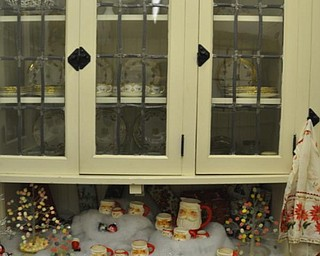 The Butler's Pantry at the Arms Family Museum. Decorated for Christmas in Motion.