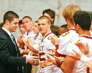 The Vindicator/Robert K. Yosay -----Kyle McCarthy Class of 2004 State Champions Team gives them support - 1232009
