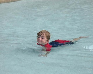 While on vacation at Disney World this year, 3-year-old Anthony Triveri of Poland got to swim in a swimming pool.