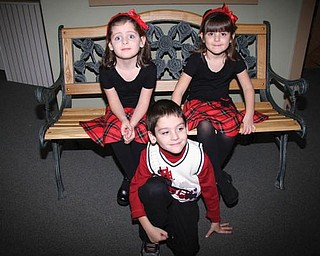 Triplets Lily, Carli and Patrick Vari-Coppola of Lowellville celebrated their 5th birthday on Nov. 5 at the Children's Center for Science and Technology in Youngstown.