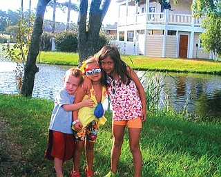 From left, Sam Galich, of Hudson, and Tirli and Siena Abercrombie, of Pittsburgh, had a chance to go to the Outer Banks this summer. The picture was taken by their grandmother, Aggie Van Brocklin of Poland.