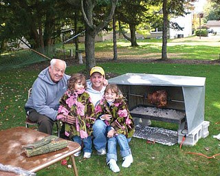 Four members of the Masucci family celebrate fall birthdays. They are 'Pops,  John, and Sydney and Sammie Masucci.