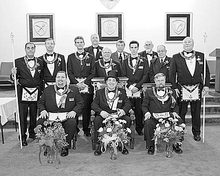Special to The Vindicator OFFICIAL CEREMONY: At its Dec. 11 meeting in Canfield, Argus Lodge 545 F&AM installed elected officers for 2010 during its 124th annual installation ceremony. Worthy Brother Russell W. Gillam III served as master of ceremonies. He was aided by the installing officers, worthy brothers Russell W. Gillam Jr., Terry Crosby Jr., Donald L. Huntley, Dale E. Hawkins, Christopher Brocious, George E. Brainard and Paul L. McGraw and brothers Joe Ault and Jared Clark. The new officers, seated from left to right, are Brother Richard Percic, senior warden; Worthy Brother R. Christopher Gillam, master; and McGraw, junior warden. Standing, from left, are Gillam Jr., senior deacon; Gillam III, treasurer; Brother Mark Roca, senior steward; Brother Denny Furman, lodge education officer; Worthy Brother Lyle K. Orr Jr., chaplain; Brother John Factor, trustee; Brother Jeffery Rober, junior steward; Huntley, secretary; Worthy Brother Henry Fletcher, tyler; and Brother David Giudici, junior deacon. The meeting was preceded by refreshments served by the Masters family. Argus Lodge, chartered in Canfield in 1886, is among the 540 lodges under the Grand Lodge of Ohio. For more information and photos, visit www.arguslodge.org.