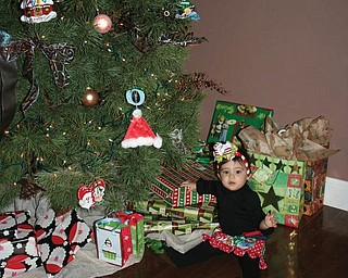 Gemma White, 9 months, of Canfield is celebrating her first Christmas.