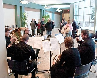 A band of students play at the MCCTC on Sunday afternoon following completion of the center's addition.