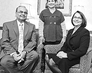 The Vindicator/Lisa-Ann Ishihara affairs of the heart: Their dedication to combating cardiovascular disease and to pediatric research is shared by, above from left, Dr. Atef S. Labib, the recipient of the American Heart Associations's 2010 Cardiac Service Award; Julie Nohra Schiavone, recipient of the Heart of the Community Award; and Dr. Cathy Mastropietro, chair of the American Heart Association's 2010 Heart Ball.